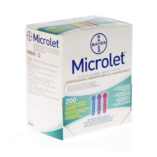 BAYER-MICROLET-200-LANCETTE-COLORATE-IN-OFFERTA